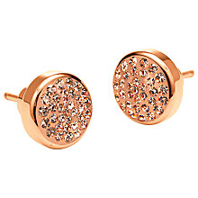Buy Folli Follie Chic Crystal Disc Stud Earrings Online at johnlewis.com