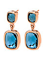 Folli Follie Elements Rose Gold Double Crystal Drop Earrings