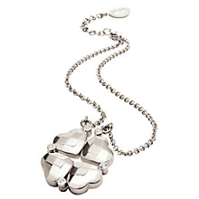Buy Folli Follie Heart4Heart Pendant, Silver Online at johnlewis.com