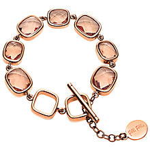 Buy Folli Follie Elements Rose Gold Crystal Link Bracelet Online at johnlewis.com
