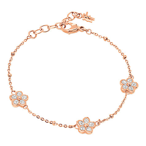 Buy Folli Follie Wonder Crystal Flower Bracelet, Rose Gold Online at johnlewis.com