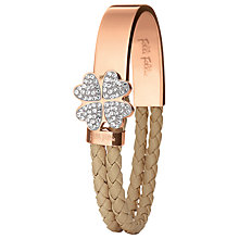 Buy Folli Follie Heart4Heart Rose Gold Woven Bracelet Online at johnlewis.com