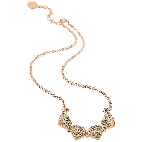 Buy Folli Follie Heart4Heart Rose Gold Necklace, Champagne Online at johnlewis.com