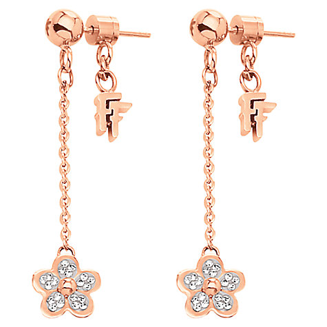 Buy Folli Follie Wonder Chain Drop Earrings, Rose Gold Online at johnlewis.com