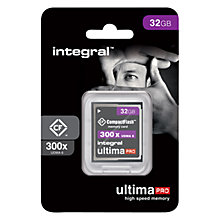 Buy Integral Ultima Pro 300x CompactFlash Memory Card, 32GB Online at johnlewis.com