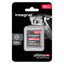 Buy Integral Ultima Pro UDMA 6 300x CompactFlash Memory Card, 64GB Online at johnlewis.com