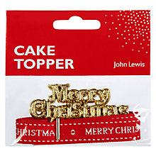 Buy John Lewis Merry Christmas Cake Topper and Ribbon Online at johnlewis.com
