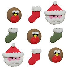 Buy Creative Party Robin and Santa Sugar Cake Toppers Online at johnlewis.com