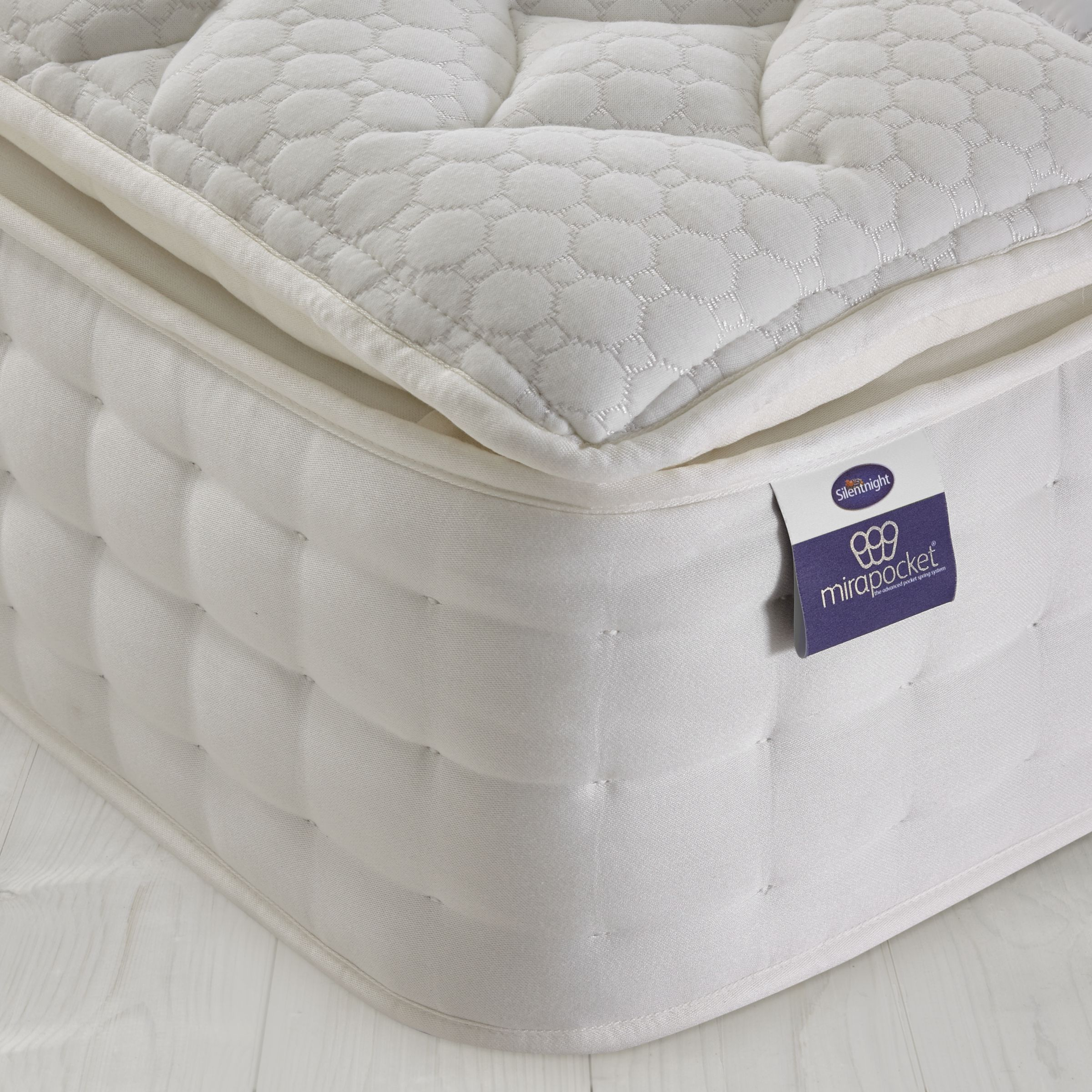Silentnight Mirapocket 2000 Latex Mattress, Double