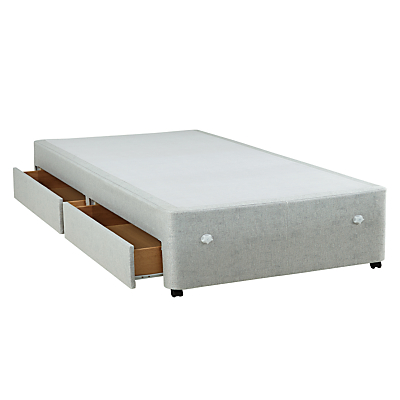 Silentnight non sprung 2 drawer divan base single for Single divan bed base with drawers