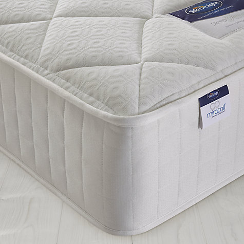 Buy Silentnight Miracoil Memory Mattress, Single Online at johnlewis.com