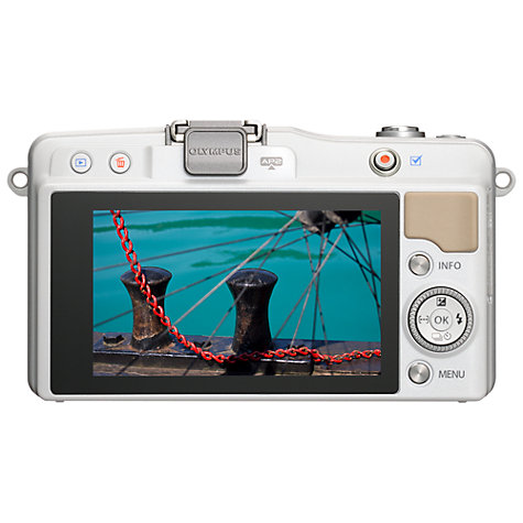 "Buy Olympus PEN E-PM2 Compact System Camera with 14-42mm Lens, HD 1080i, 16MP, Wi-Fi, 3"" LCD Screen Online at johnlewis.com"