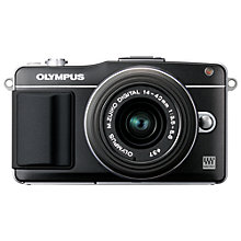 "Buy Olympus PEN E-PM2 Compact System Camera with 14-42mm Lens, HD 1080i, 16MP, Wi-Fi, 3"" LCD Screen with 16GB + 8GB Memory Card Online at johnlewis.com"