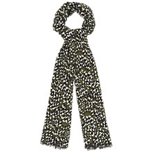 Buy Whistles Scatter Petal Scarf, Green/Multi Online at johnlewis.com