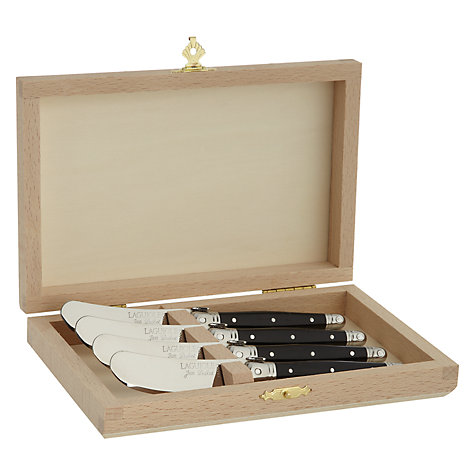 Buy Laguiole Black Cheese Spreaders, Set of 4 Online at johnlewis.com