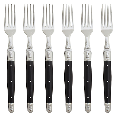 Laguiole Black Table Forks, Set of 6