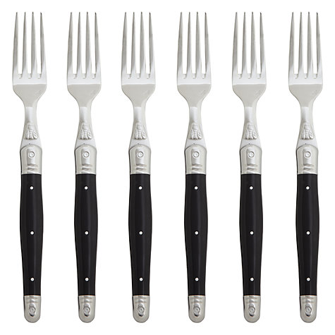 Buy Laguiole Black Table Forks, Set of 6 Online at johnlewis.com