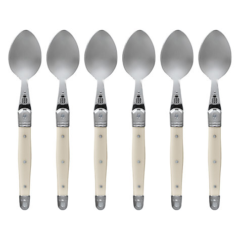 Buy Laguiole Tea Spoons, Ivory, Set of 6 Online at johnlewis.com