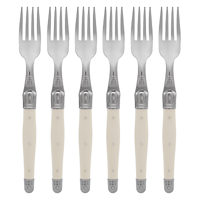 Laguiole by Jean Dubost Ivory Table Forks, 6 Piece