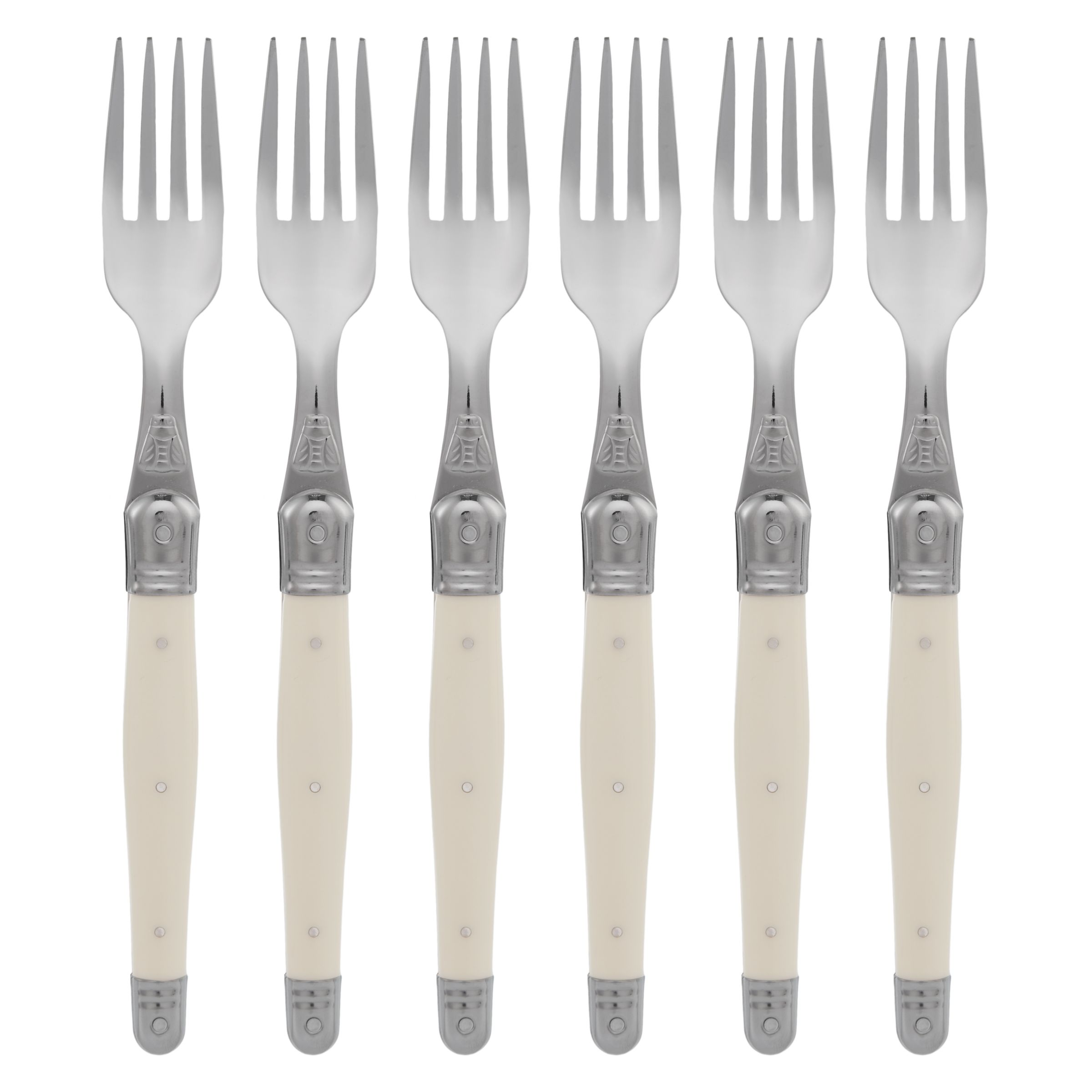 Laguiole by Jean Dubost Laguiole by Jean Dubost Ivory Table Forks, 6 Piece