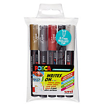 Buy Mitsubishi Uni Posca Markers Pens, Pack of 5 Online at johnlewis.com