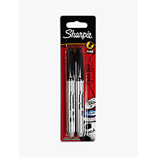 Buy Sharpie Permanent Marker, Black, Pack of 2 Online at johnlewis.com
