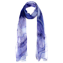 Buy Jigsaw Watermark Wave Scarf, Indigo Online at johnlewis.com