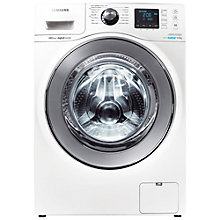 Buy Samsung WF80F7E6U6W ecobubble™ VRT Washing Machine, 8kg Load, A+++ Energy Rating, 1600rpm Spin, White Online at johnlewis.com