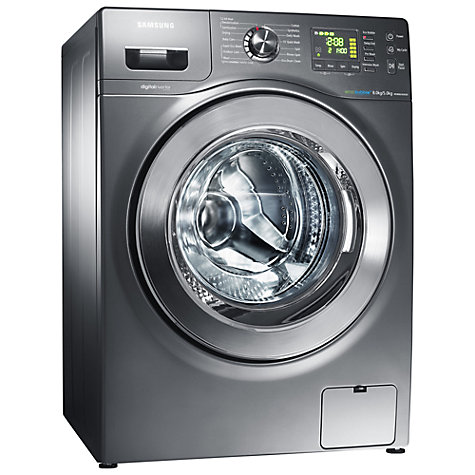 Buy Samsung WD806U4SAGD Washer Dryer, 8kg wash / 5kg dry load, 1400rpm Spin, Graphite Online at johnlewis.com