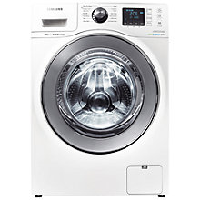 Buy Samsung WF90F7E6U6W ecobubble™ VRT Washing Machine, 9kg Load, A+++ Energy Rating, 1600rpm Spin, White Online at johnlewis.com