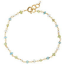 Buy Pomegranate 18ct Gold Vermeil Peridot, Apatite and Aquamarine Bracelet Online at johnlewis.com