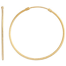 Buy Pomegranate 18ct Gold Vermeil Matte Hoop Earrings Online at johnlewis.com