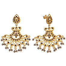 Buy Pomegranate 18ct Gold Vermeil Fan Chandelier Smoky Quartz Earrings Online at johnlewis.com