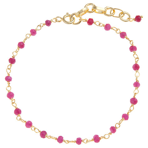 Buy Pomegranate 18ct Gold Vermeil Ruby Bead Rosary Bracelet Online at johnlewis.com