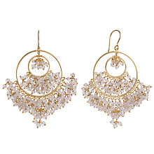 Buy Pomegranate 18ct Gold Vermeil Gemstone Cluster Double Circle Earrings Online at johnlewis.com