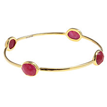 Buy Pomegranate 18ct Gold Vermeil Faceted Ruby Bangle Online at johnlewis.com