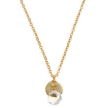 Buy Pomegranate 18ct Gold Vermeil Disc Crystal Pendant Online at johnlewis.com