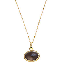 Buy Pomegranate 18ct Gold Vermeil Smoky Quartz Cabochon Pendant Online at johnlewis.com