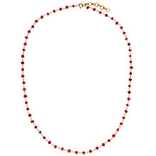 Buy Pomegranate 18ct Gold Vermeil Ruby Bead Rosary Necklace Online at johnlewis.com