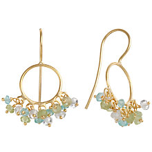 Buy Pomegranate 18ct Gold Vermeil Apatite and Peridot Cluster Drop Earrings Online at johnlewis.com
