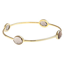Buy Pomegranate 18ct Gold Vermeil Faceted Smoky Quartz Bangle Online at johnlewis.com