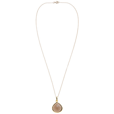 Buy Pomegranate Gold Vermeil Long Pear Drop Pendant, Smoky Quartz Online at johnlewis.com