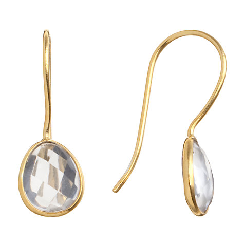 Buy Pomegranate 18ct Gold Vermeil Pebble Drop Crystal Earrings Online at johnlewis.com
