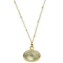 Buy Pomegranate 18ct Gold Vermeil Lemon Quartz Cabochon Pendant Online at johnlewis.com