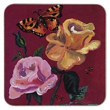 Buy Avenida Damask Rose Coaster, L10 x W10cm, Multi Online at johnlewis.com