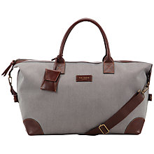 Buy Ted Baker Rippley Leather Trim Holdall Online at johnlewis.com