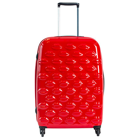 Buy Lulu Guinness Lips 4-Wheel Medium Suitcase Online at johnlewis.com