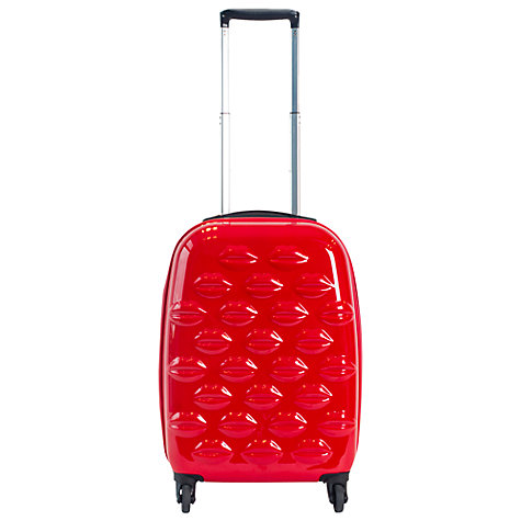 Buy Lulu Guinness Lips 4-Wheel Cabin Suitcase, Red Online at johnlewis.com