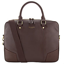 Buy Ted Baker Biondy Document Bag, Brown Online at johnlewis.com