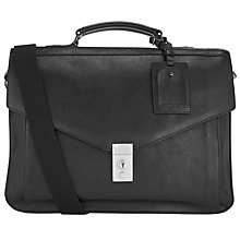 Buy Ted Baker Lozzen Leather Briefcase, Black Online at johnlewis.com